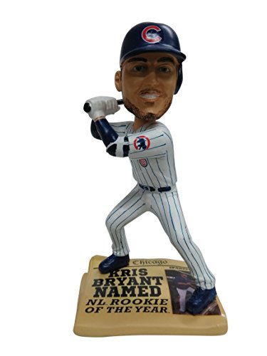 - FOCO MLB Chicago Cubs Kris Bryant Exclusive Newspaper Base bobblehead, Blue, 8
