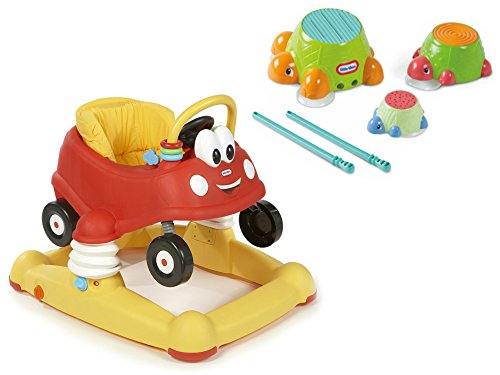Little Tikes Cozy Coupe Baby Baby Walker, Bouncer, and Activity Center Mobile Entertainer and Little Tikes Turtle Top Drum