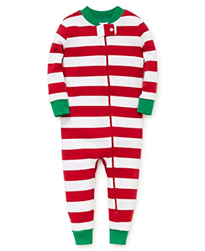 Little Me Kid's Holiday Cotton Pajamas, Sleepwear, red stripe, 12 Months (Cotton Pajamas Little Me)