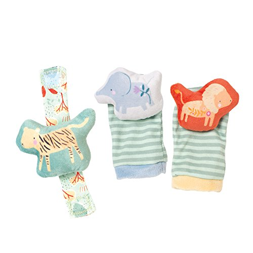 (Manhattan Toy Safari Baby Foot Finders and Wrist Rattle Toy Set)