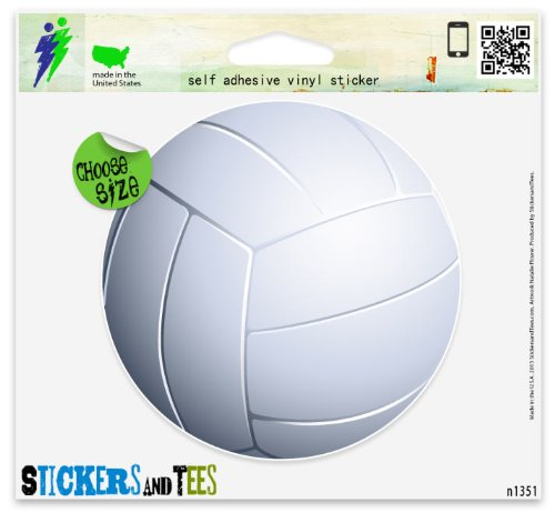 "Volleyball 3D Ball Sport Car Sticker Indoor Outdoor 4"" x 4"""