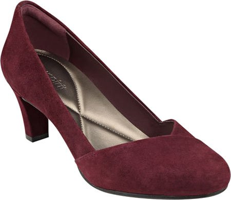 Easy Spirit Womens Albie Pump,Wine Suede,US 7.5 M