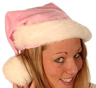 Pink 45cm Long Santa Hat Plush Fine Father Christmas  Amazon.co.uk  Clothing f991ab1bc5d1