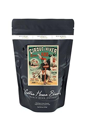 Cirque d'Hiver - Carl Abs Vintage Poster France c. 1886 (8oz Whole Bean Small Batch Artisan Coffee - Bold & Strong Medium Dark Roast w/ Artwork)