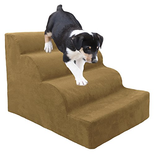 Homebase Dog Steps (Beige, 4 Steps (Scalloped))