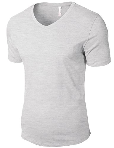 Tonyclo Men's Cotton Basic V-Neck Comfort Classic Soft Tee Shirts