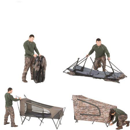 Instant Tent Cot With Realtree Ap Camo Rainfly Sleeps 1