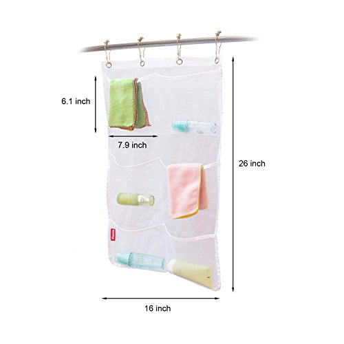 Honla 2 pack hanging mesh bath shower caddy organizer with - Anna s linens bathroom accessories ...