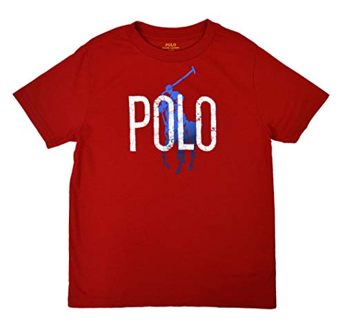 Polo Ralph Lauren Little Boys' Big Pony Graphic Logo T-Shirt (3/3T, Bistro ()
