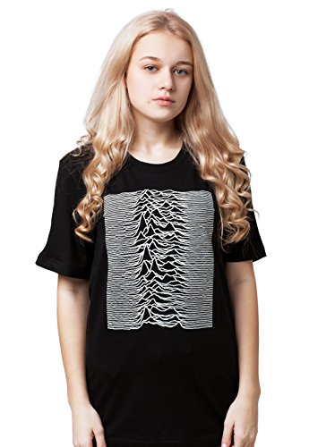 Printed T-shirts Album - Strand Clothing Pulsar Artwork Used by Joy Division for The Unknown Pleasures Album Women's Ladies Unisex Printed T Shirt - Minimal - M