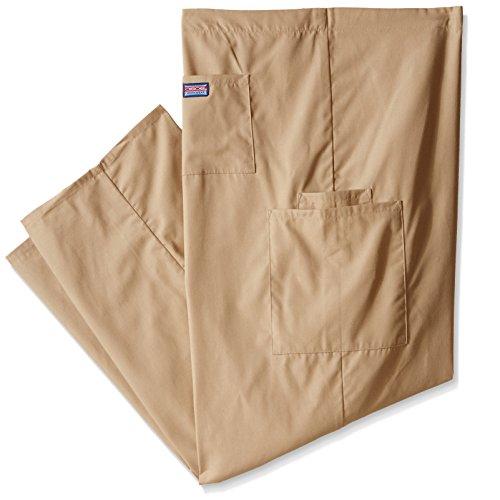 Cherokee Mens Big And Tall Unisex Drawstring Cargo Scrub Pant  Dark Khaki  Xxx Large Short