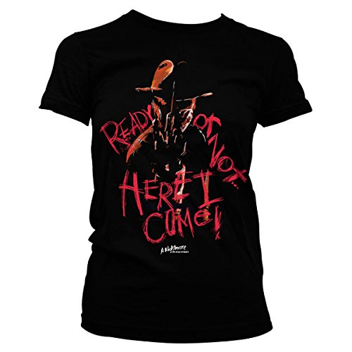 A Here Elm Female licenza Ufficialmente I Black in Come concesso Nightmare On Street Tee tqWRHB8