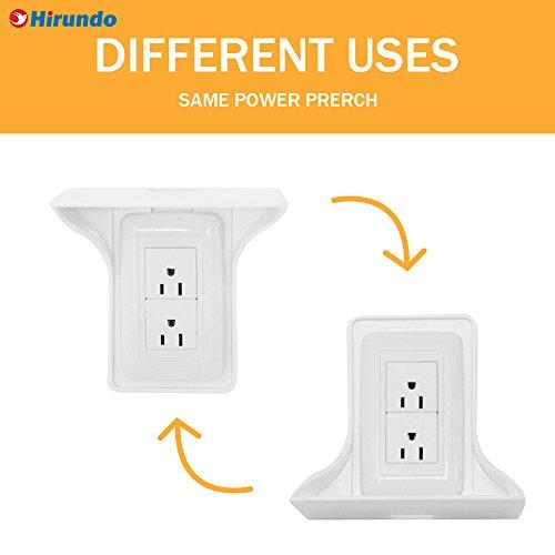 Hirundo Wall Outlet Shelf Power Perch, (White 2 Pcs) by Hirundo (Image #1)