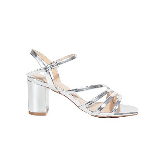 Parfois - Sandales Patent High Heel Femmes Argenté