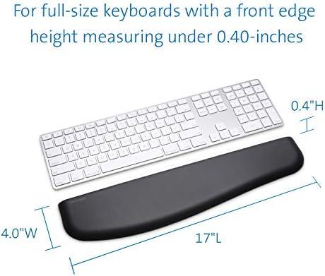 Kensington K52800WW - Reposamuñecas Ergosoft para teclados Finos Color Negro