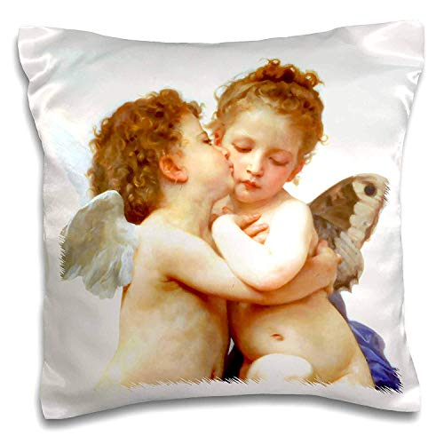 CoolMailboxicoveriw Cupid and Psyche As Children 1890,L Amour Infants,Bouguereau,Baby Angel Cherubs Kiss,Classic,Pillow -