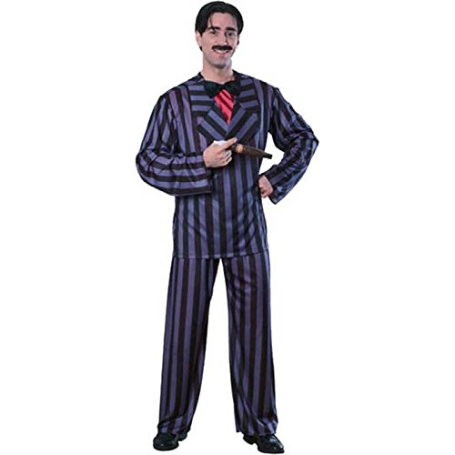 The Addams Family Gomez Adams Costume, Black, Standard (Family Costumes Halloween)