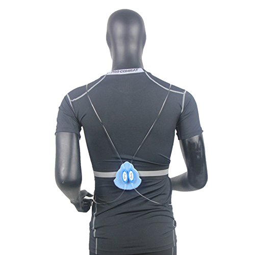 Richermall Cycling LED Safety Vest- Night Riding Reflective Warning Vest Adjustable Belt High Visibility LED for Jogging Hiking(no batteries) (blue)