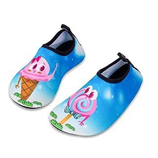 Kids Water Swim Shoes Barefoot Aqua Socks Shoes Quick Dry Non-Slip for Baby Boys & Girls (Lollipop, 28/29)