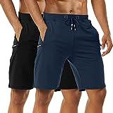 Boyzn Men's 2 Pack Casual Shorts Cotton Workout