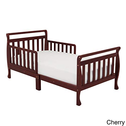 Mikala Mikaila 'Nerida' Wood Toddler Sleigh Bed Cherry Cherry Finish