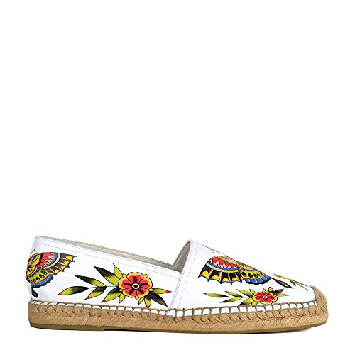 Animal White ZEN Floral Espadrilles Esche Print Leather White xEXpU1q