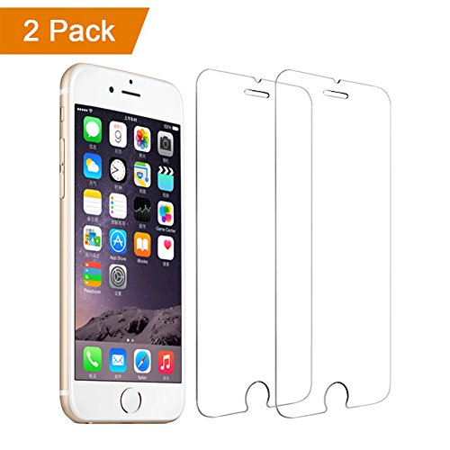 5.5 inch Phone Screen Protector Tempered Glass, Touch Screen Protector for iPhone 6 Plus / iPhone 6s Plus / iPhone 7 Plus / iPhone 8 Plus (2 Pack)