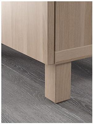 Amazon.com: IKEA TV banco con puertas, lappviken efecto de ...