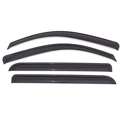 ICBEAMER 4 pcs Side Window Visors Deflectors for 2007-09 Dodge Caliber 4 Doors Sedan Vent Visor Sun/Rain Guard Set