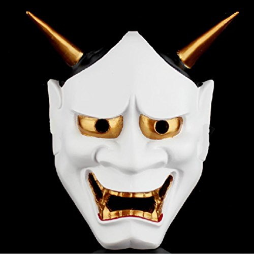 [MASK PARTY - Halloween Killer Clown Horror Party Deluxe Costume Prop Masquerade Prom Carnival Mask ( Devil] (Jigsaw Costume Face Paint)