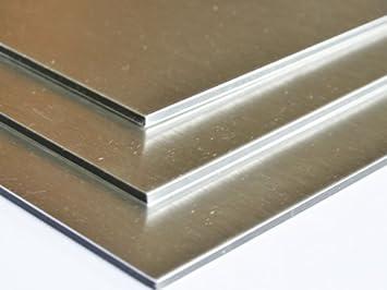 Aluminium Verbundplatte 3mm Aluminum Geburstet 0 15mm 200mm