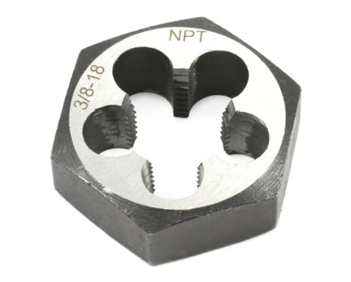 Forney 21144 Pipe Die Industrial Pro Hex Re-Threading Carbon Steel, Right Hand, 3/8-Inch-by-18 - Carbon Steel Hex Die
