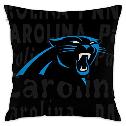 Gdcover Custom Colorful Carolina Panthers Pillow Covers Standard Size Throw Pillow Cases Decorative Cotton Pillowcase Protecter Zipper - 18x18 Inches