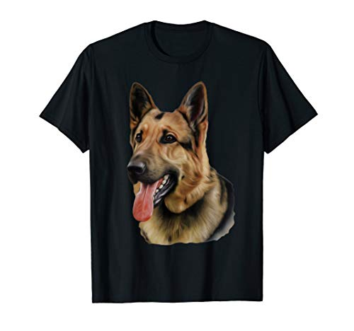 - Big Face German Shepherd Dog T-shirt