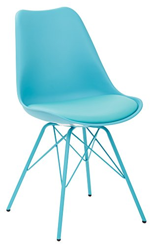 Ave Six Emerson Student Side Chair, Teal - Emerson Dining Room Chair