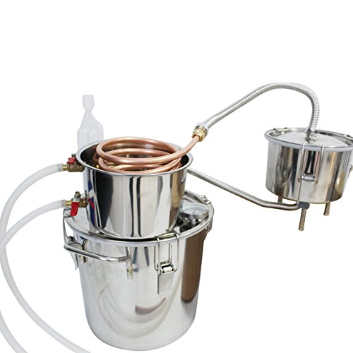 RACPLUS 3 Pots 3 Gal Stainless Steel Water Alcohol Distiller Copper Tube 12L Moonshine Still Spirits Boiler Home Wine Making Kit(4-7 Days Shipping)-Get it for Xmas! (Stainless Steel Distiller compare prices)