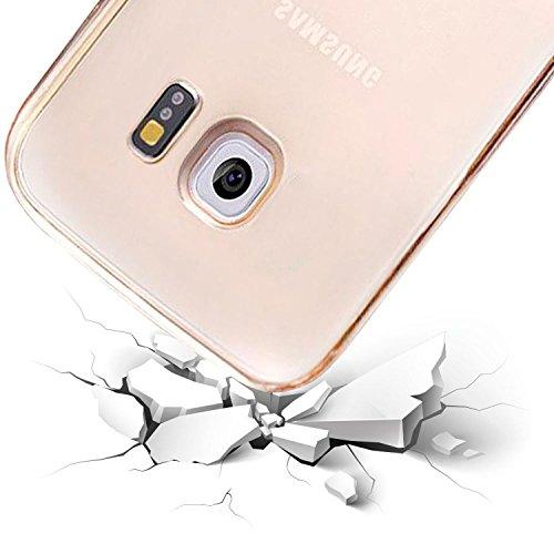 "Cover iPhone 6 / 6S Hülle ,Leathlux Rundumschutz transparent Silikon Kratzfeste Silikon TPU Ultra Dünn Schlanke Bumper einzigartig Rückdeckel Weich Case Cover Für iPhone 6 / 6S 4.7"""