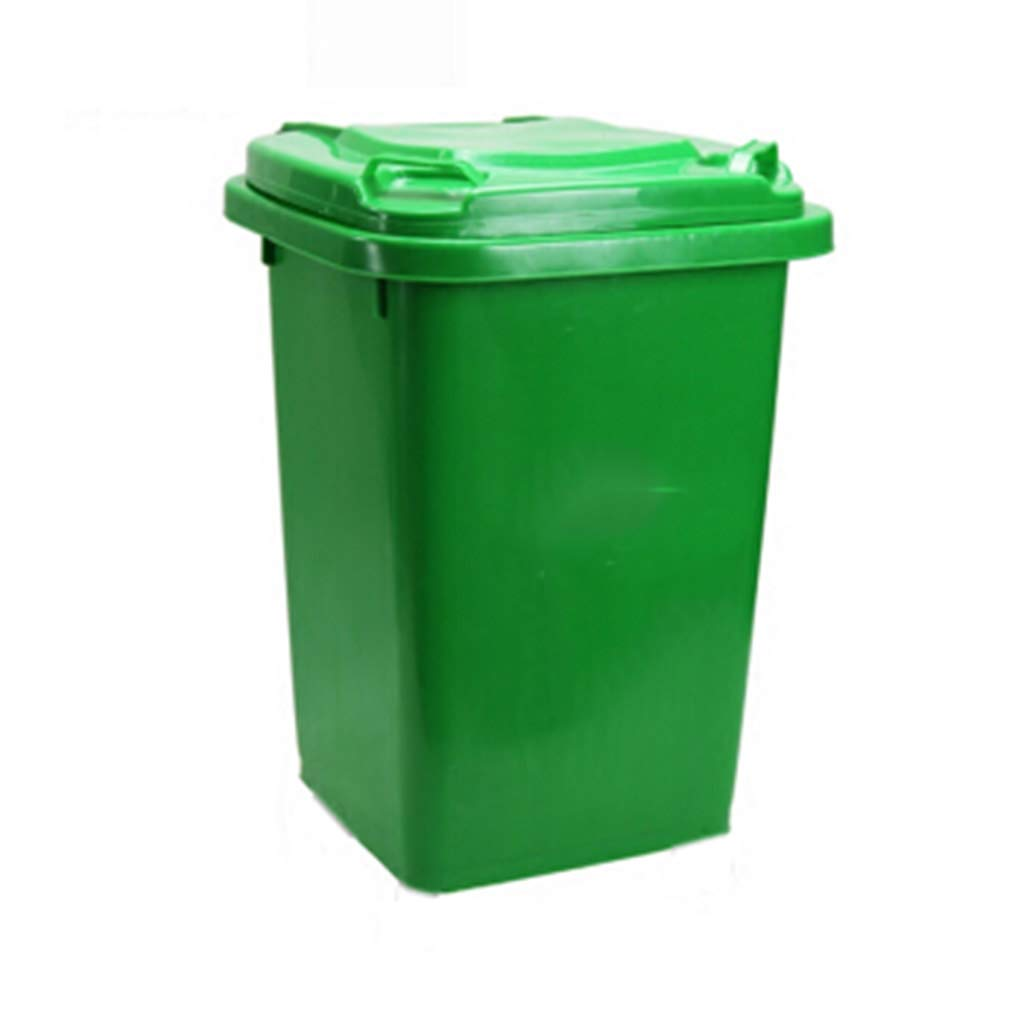 Trash can Trash Can 50 Liters Outdoor Large Plastic Sanitation Trash Can Residential Property Outdoor Waste Bin with Lid