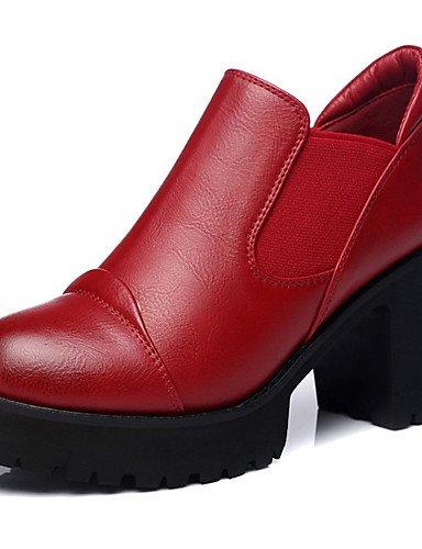 GGX oficina ocasional chispeante sintética us8 tacón zapatos cn39 talones eu39 us8 brillo las red mujeres uk6 de grueso eu39 nbsp;carrera invierno red cn39 uk6 otoño eu39 cn39 uk6 us8 amp; primavera YHUJI red dYScwY