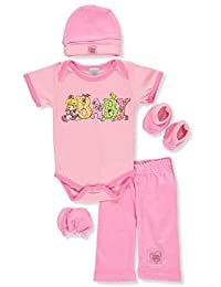 Precious Moments Baby Infant 5-Piece Layette Gift Set - pink/multi, 0-3 months