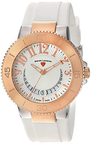 Swiss Legend Women's 11315SM-SR-02-WHT Riviera Analog Display Swiss Quartz White Watch