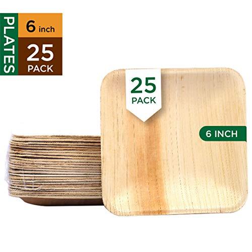 Raj Disposable Palm Leaf Plates (25 Count, 6