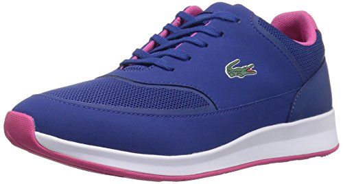 Lace Sneakers Lacoste (Lacoste Women's Chaumont Lace 117 2 Fashion Sneaker, Blue, 5 M US)