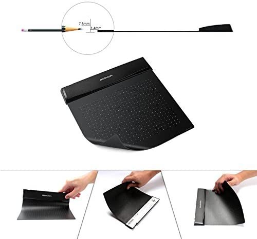 Navitech Black Graphics Tablet Case//Bag Compatible with The GAOMON S56K Ultra-Thin Flexible Drawing Graphic Tablet