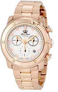 Glam Rock Women's GR50133 Aqua Rock Chronograph White Dial Rose Gold Ion-Plated Stainless Steel Watch