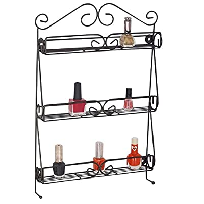 Uniware Wall Mounted Nail Polish & Cosmetics 3-Tier Organizer - 3 tier scroll rack for you nail polish and cosmetics Wall mounted for easy reach, easy view and space saving Gorgeous classic scroll design to enhance your wall - organizers, bathroom-accessories, bathroom - 41OxEhvvGsL. SS400  -
