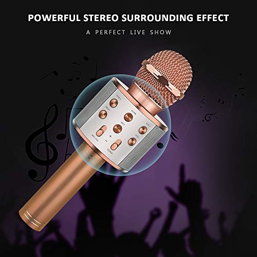DEDY Awesome Toys for 5-12 Year Old Girls, Bluetooth Wireless Karaoke Microphone Birthday Fun Gifts for 5-12 Year Old Girls Boys Microphone Kids xiangbin DDMKF05 by DEDY (Image #2)
