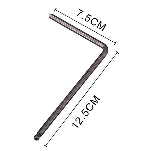 MusicOne 5mm Ball End Allen Wrench Guitar Truss Rod Adjustment Tool For Martin Acoustic -