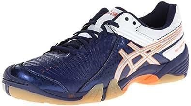 ASICS Men's Gel-Domain 3 Volleyball Shoe,Navy/Lightning/White,10 M US