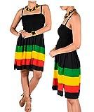 BUNFIREs 2 Pcs. Reggae Rasta Bracelet Jamaica Africa Reggae W/Dress Skirt 1 Size Fit Most, Stretch Fit